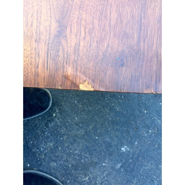 Vintage Bassett Walnut Surfboard Coffee Table For Sale - Image 5 of 8