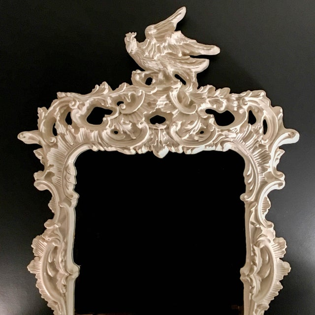 Chinese Chippendale Eagle Crest Mirror For Sale - Image 10 of 11