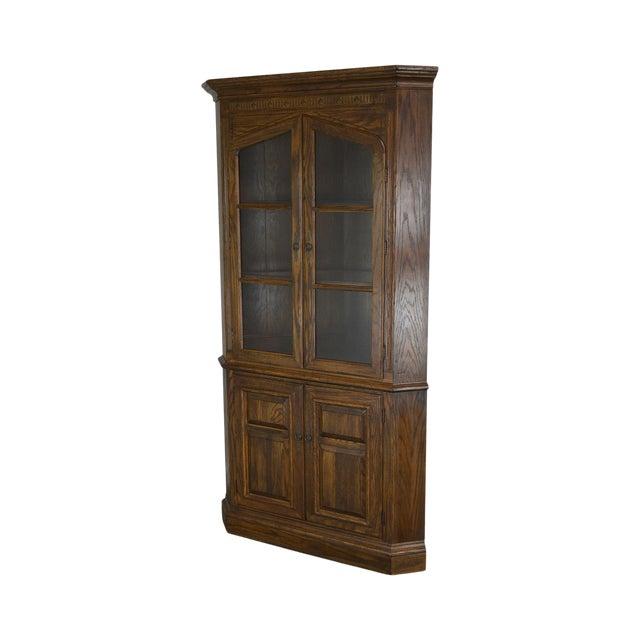 Ethan Allen Royal Charter Oak Corner Cabinet For Sale