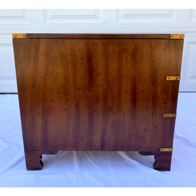 Heritage Mahogany 3 Drawer Chest Side Table For Sale - Image 9 of 10