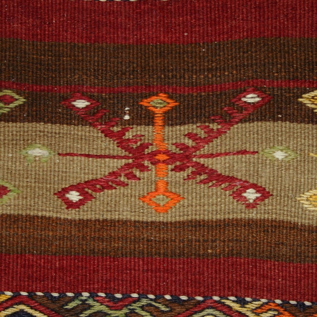 Vintage Turkish Kilim Malatya Runner - 3' X 11'6 - Image 3 of 3