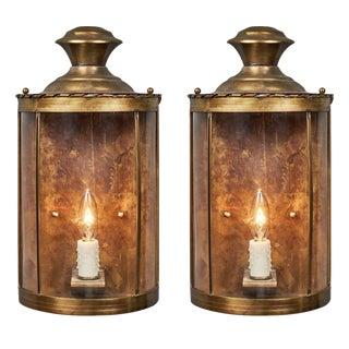Brass Art Deco Period Sconces - A Pair For Sale