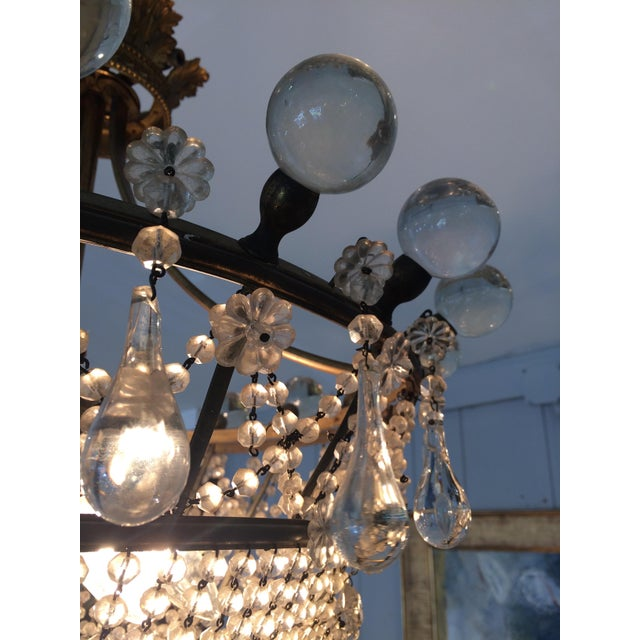 1910s French 3 Tier Crystal Chandelier For Sale - Image 5 of 13