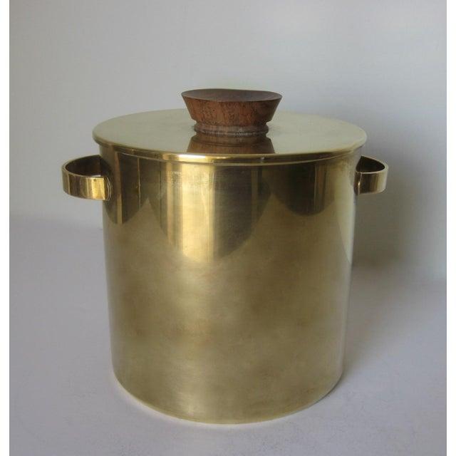 Mid-Century Italian Brass & Teak Ice Bucket - Image 3 of 13