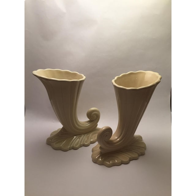 Mid-Century Modern Trenton Potteries Mid-Century American Vases - A Pair For Sale - Image 3 of 6