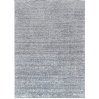 "Pasargad Gray Silk & Wool Rug - 10' 1"" X 14' 0"" For Sale"