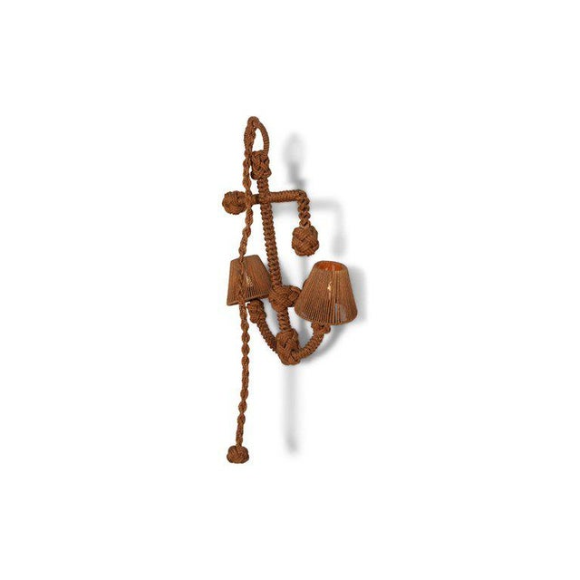French rope sconce by designers Audoux Minet. Exceptional piece in the form of an anchor, a true eye-catcher. Adrien...