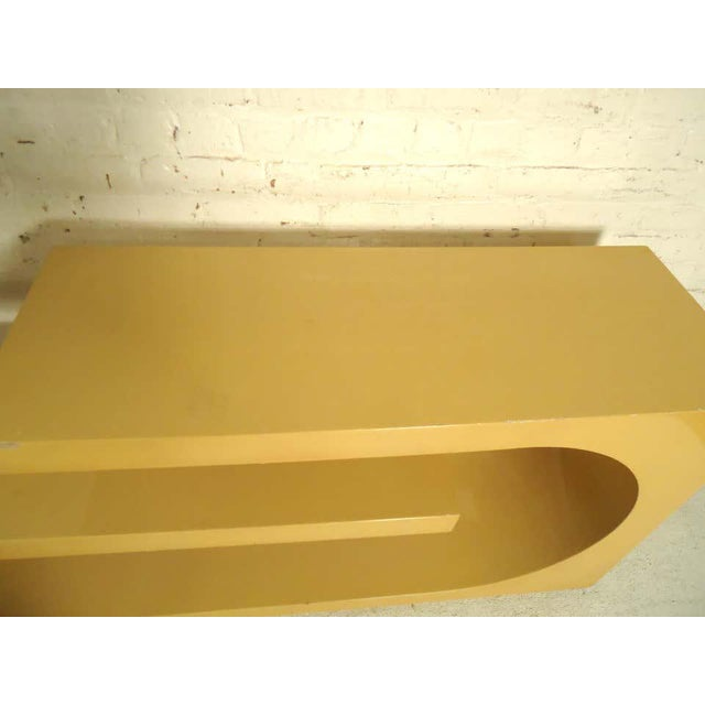 1960s 1960s Mod Style Lacquered Console For Sale - Image 5 of 9