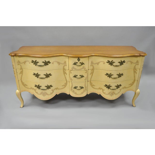 Early 20th Century Antique John Widdicomb French Provincial Style Credenza For Sale - Image 12 of 13