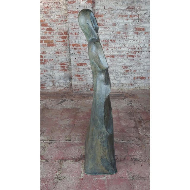 "Victor Salmones - Abstract Female Figure -Bronze sculpture circa 1960s size 25 x 13 x 57"" Artist Biography Victor Salmones..."