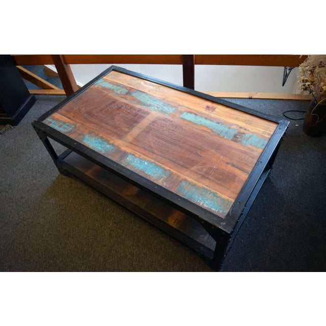 Industrial Patchwork Coffee Table - Image 2 of 3