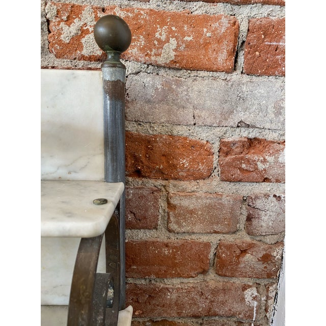 English Antique Zinc and Marble Dry Sink Basin For Sale - Image 3 of 11