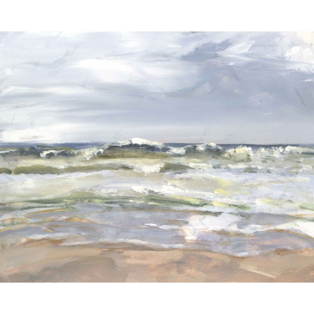 Oil Painting - Rush to Shore - Image 1 of 2