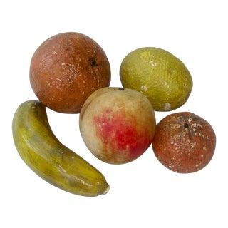 Italian Stone Fruit Marble Set of 5 For Sale