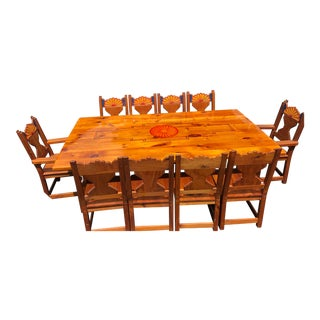 Southwestern Custom Designed Dining Set For Sale