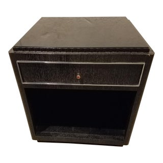 Ralph Lauren Textured Black Nightstand For Sale