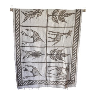 1990s Vintage African Mud Cloth Throw / Tapestry For Sale