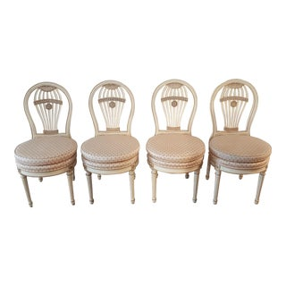"Louis XVI Maison Jansen Style ""Montgolfiere"" Chairs - Set of 4"