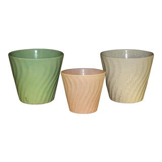 1960s Mid Century Modern Bauer California Pottery Planters - Set of 3