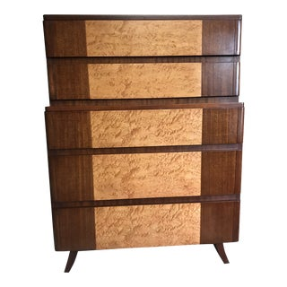 Eliel Saarinen for Northern Furniture Art Moderne Five Drawer Tall Chest For Sale