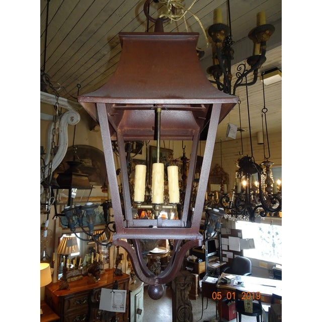 French Iron Lantern For Sale - Image 10 of 10