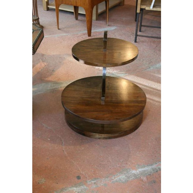 Art Deco Art Deco Walnut Tiered Circles Table For Sale - Image 3 of 4