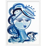 "Image of Medium ""Blue Girl 26"" Print by Maren Devine, 19"" X 24"" For Sale"
