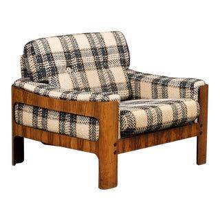 Midcentury Danish Cubistic Easy Chair in Rosewood Veneer by Komfort Mobler For Sale