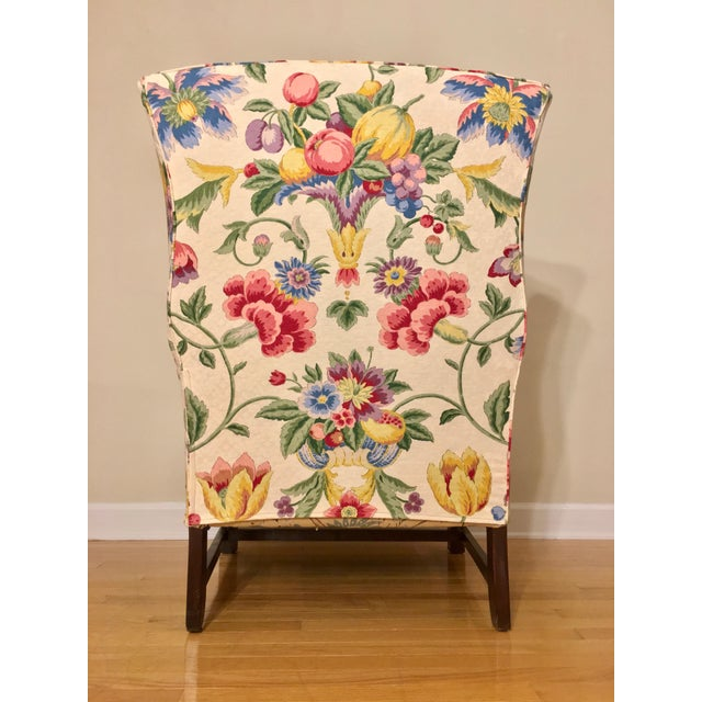Newly Upholstered Georgian Style Wingback Chairs - a Pair For Sale In Raleigh - Image 6 of 11