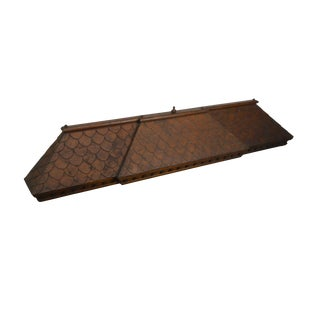 Antique 19th Century Aesthetic Carved Walnut Roof Valance For Sale