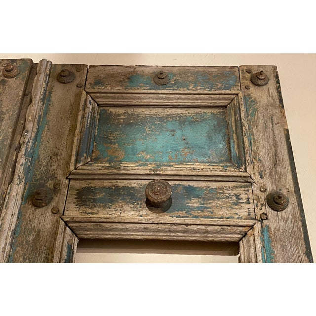 19th Century French Blue Doors - a Pair For Sale - Image 4 of 8