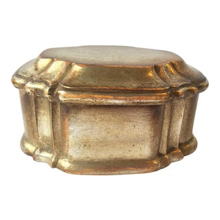 Borghese Box With Silver Painted Finish For Sale