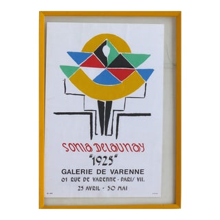 Sonia Delaunay Galerie De Varenne 1925 Poster by Jacques Damase For Sale