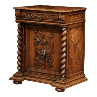 19th Century French Napoleon III Carved Oak Jelly Cabinet Confiturier For Sale