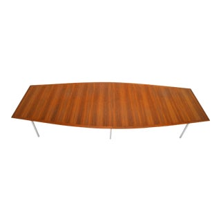 Florence Knoll Rosewood Dining or Conference Table For Sale