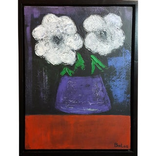 """Flowers"" Original Framed Painting For Sale"