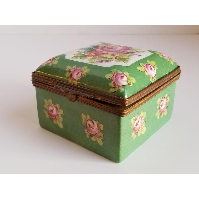 Antique French Porcelain Trinket Box For Sale - Image 4 of 12