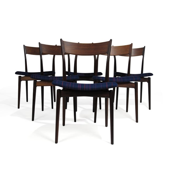 H. P. Hansen for Randers Danish Rosewood Dining Chairs - Set of 6 For Sale - Image 11 of 11