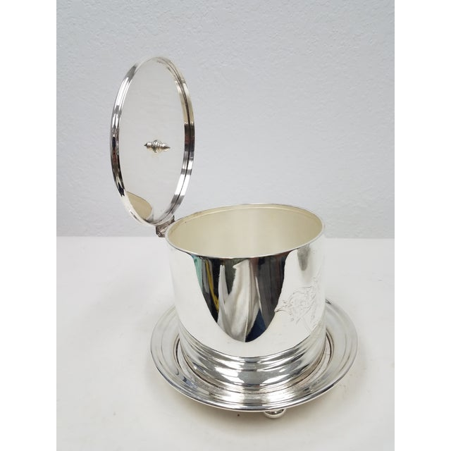 Antique English Silverplate Biscuit Container - This container was made by Elkington in 1894. There is a place on the...