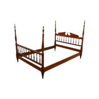 20th Century Traditional Mount Vernon Solid Cherry Four-Poster Full Size Bedframe For Sale