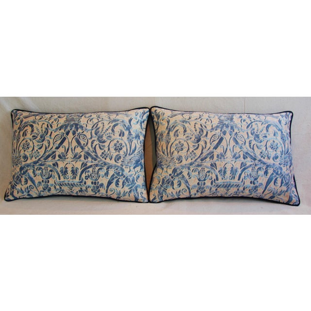 Italian Fortuny Uccelli Down Pillows - A Pair - Image 3 of 11