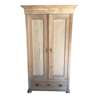 Antique Swedish Pine Armoire
