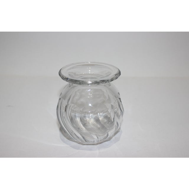 Petit Crystal Vase in Wave Pattern 1940s For Sale - Image 9 of 9