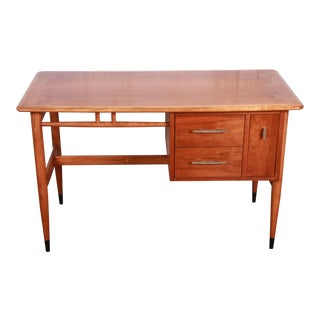 Lane Acclaim Mid-Century Modern Sculpted Walnut Desk, 1960s For Sale