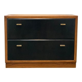 Vintage Drexel Campaign Style Nightstand For Sale