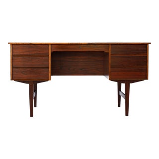 1960s Mid Century Danish Rosewood Writing Desk For Sale
