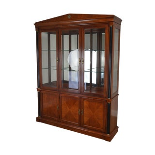 Ethan Allen Medallion Collection Large Cherry Breakfront (B) For Sale
