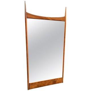 John Stuart for Widdicomb Walnut Mirror Designed by t.h. Robsjohn-Gibbings For Sale