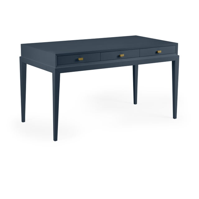 Contemporary Casa Cosima Hayes Desk in Hale Navy For Sale - Image 3 of 3