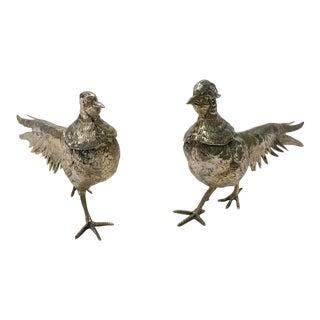 Deocrative Silver Pheasants - a Pair